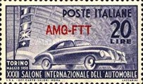 [International Auto Show - Turin, Italy - Italy Postage Stamp Overprinted