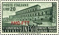 [The 5th General Conference of UNESCO - Italy Postage Stamps Overprinted