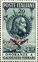 [The 400th Anniversary of the Death of Ferrari - Italy Postage Stamp Overprinted