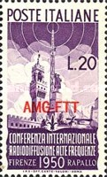 [International Shortwave Radio Conference, Florence  - Italy Postage Stamps Overprinted
