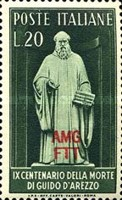 [The 900th Anniversary of the Death of Arezzo - Italy Postage Stamp Overprinted
