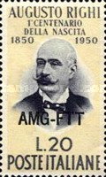 [The 100th Anniversary of the Birth of Augusto Righi - Italy Postage Stamp Overprinted