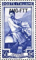 [Italy at Work - Italy Postage Stamps Overprinted