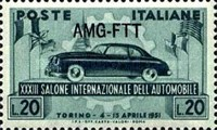 [The 33rd International Automobile Exhibition - Turin, Italy - Italy Postage Stamp Overprinted