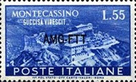 [The Reconstruction of the Abbey of Montecassino - Italy Postage Stamps Overprinted