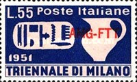 [Triennial Art Exhibition, Milan - Italy Postage Stamps Overprinted