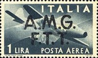 "[Airmail -  - Italy Postage Stamps of 1945 Overprinted ""A.M.G.F.T.T"", type B]"