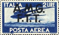 "[Airmail -  - Italy Postage Stamps of 1945 Overprinted ""A.M.G.F.T.T"", type B1]"