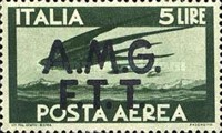 "[Airmail -  - Italy Postage Stamps of 1945 Overprinted ""A.M.G.F.T.T"", type B2]"