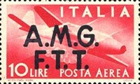 "[Airmail -  - Italy Postage Stamps of 1945 Overprinted ""A.M.G.F.T.T"", type B3]"