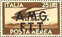 "[Airmail -  - Italy Postage Stamps of 1945 Overprinted ""A.M.G.F.T.T"", type B4]"