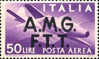 "[Airmail -  - Italy Postage Stamps of 1945 Overprinted ""A.M.G.F.T.T"", type B5]"