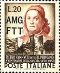 [The 500th Anniversary of the Birth of Vannucci - Italy Postage Stamp Overprinted