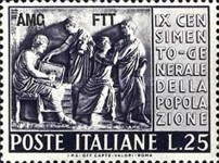 [The 3rd Industrial and the 9th General Italian Census  - Italy Postage Stamps Overprinted