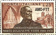 [The 50th Anniversary of the Death of Verdi  - Italy Postage Stamps Overprinted