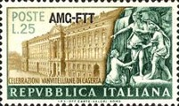[Palace of Caserta and Statuary - Italy Postage Stamp Overprinted