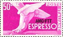 [Express Stamp -  - Italy Postage Stamp of 1951 Overprinted