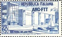 [Milan Fair Buildings - Italy Postage Stamp Overprinted