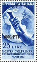 [The Overseas Fair at Naples and Italian Labour Throughout the World - Italy Postage Stamp Overprinted
