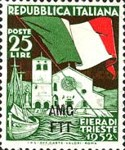 [The 4th International Sample Fair of Trieste - Italy Postage Stamp Overprinted