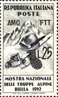 [The National Exhibition of the Alpine Troops - Italy Postage Stamp Overprinted