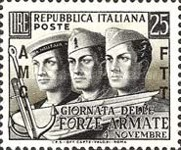 [Armed Forces Day - Italy Postage Stamps Overprinted