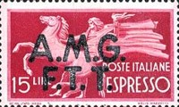 "[Express Stamps - Italy Postage Stamps of 1947 Overprinted ""A.M.G.F.T.T."", type C]"