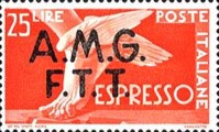 "[Express Stamps - Italy Postage Stamps of 1947 Overprinted ""A.M.G.F.T.T."", type C1]"