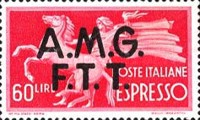 "[Express Stamps - Italy Postage Stamps of 1947 Overprinted ""A.M.G.F.T.T."", type C3]"