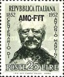 [The 100th Anniversary of Antonio Mancini - Italy Postage Stamp Overprinted