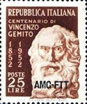 [The 100th Anniversary of Vincenzo Gemito - Italy Postage Stamp Overprinted