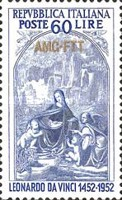 [The 500th Anniversary of da Vinci - Italy Postage Stamps Overprinted