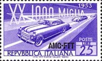 [The 20th 1000-Mile Auto Race - Italy Postage Stamp Overprinted