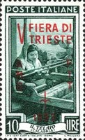 [Trieste Fair - Italy Postage Stamps of 1950 Overprinted