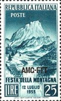 [Festival of the Mountain - Italy Postage Stamp Overprinted