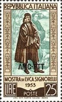 [Exhibition of the Works of Luca Signorelli - Italy Postage Stamp Overprinted