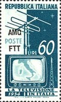 [Introduction of Television - Italy Postage Stamps Overprinted