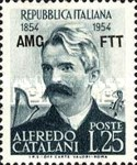 [The 100th Anniversary of the Birth of Alfredo Catalini - Italy Postage Stamp Overprinted
