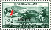 [The 60th Anniversary of the Italian Touring Club - Italy Postage Stamp Overprinted