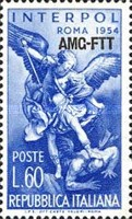 [The 23rd General Assembly of the International Criminal Police, Rome - Italy Postage Stamps Overprinted