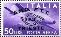 [Airmail - Trieste Philately Congress - Italy Postage Stamps Overprinted