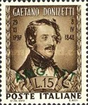 [The 100th Anniversary of the Death of Donizetti - Italy Postage Stamp Overprinted