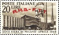 [The 27th Milan Trade Fair - Italy Postage Stamp Overprinted