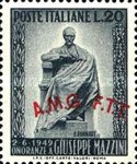 [Monument to Mazzini - Italy Postage Stamp Overprinted