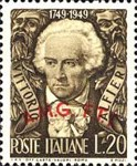 [The 200th Anniversary of the Birth of Alfieri - Italy Postage Stamp Overprinted