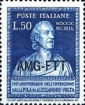 [The 150th Anniversary of the Invention of the Voltaic Pile - Italy Postage Stamps Overprinted