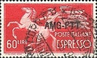[Express Stamp - Democracy - Italy Postage Stamp of 1945 Overprinted