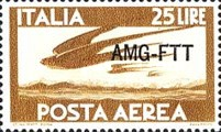 [Airmail - Italy Postage Stamps Overprinted