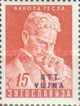 [The 10th Anniversary of the Death of Nikola Telsa - Yugoslav Postage Stamp of 1953 Overprinted