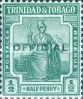 [Britannia - Trinidad and Tobago Stamp of 1913 in 4 Different